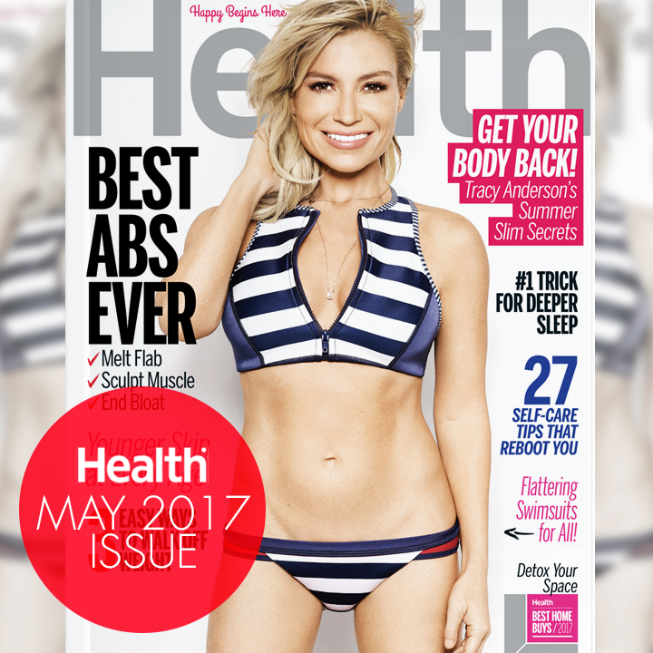 TA Tracy Anderson Health Magazine May 2017 cover