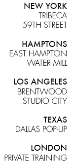 TA Tracy Anderson Studios List
