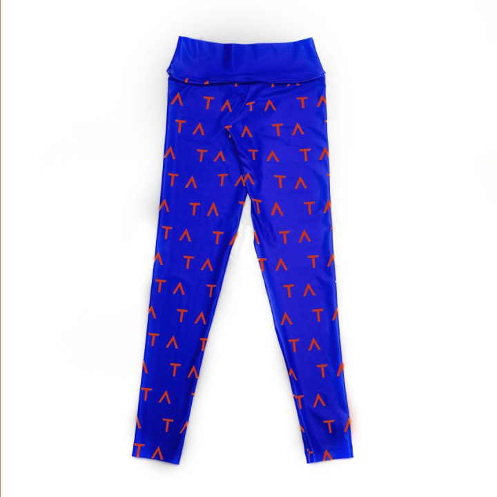 TA Tracy Anderson Royal Blue Orange Leggings