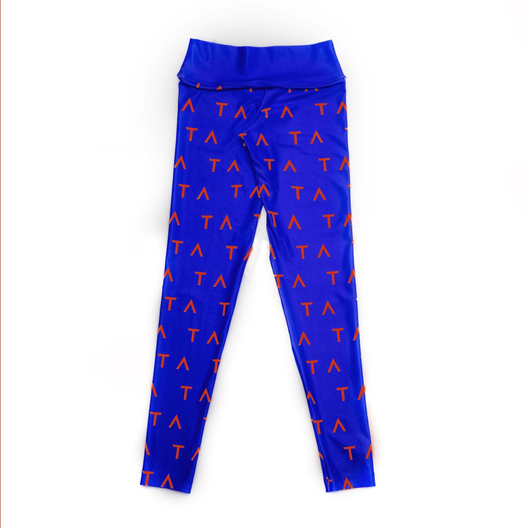 TA Tracy Anderson Royal Blue Orange Leggings