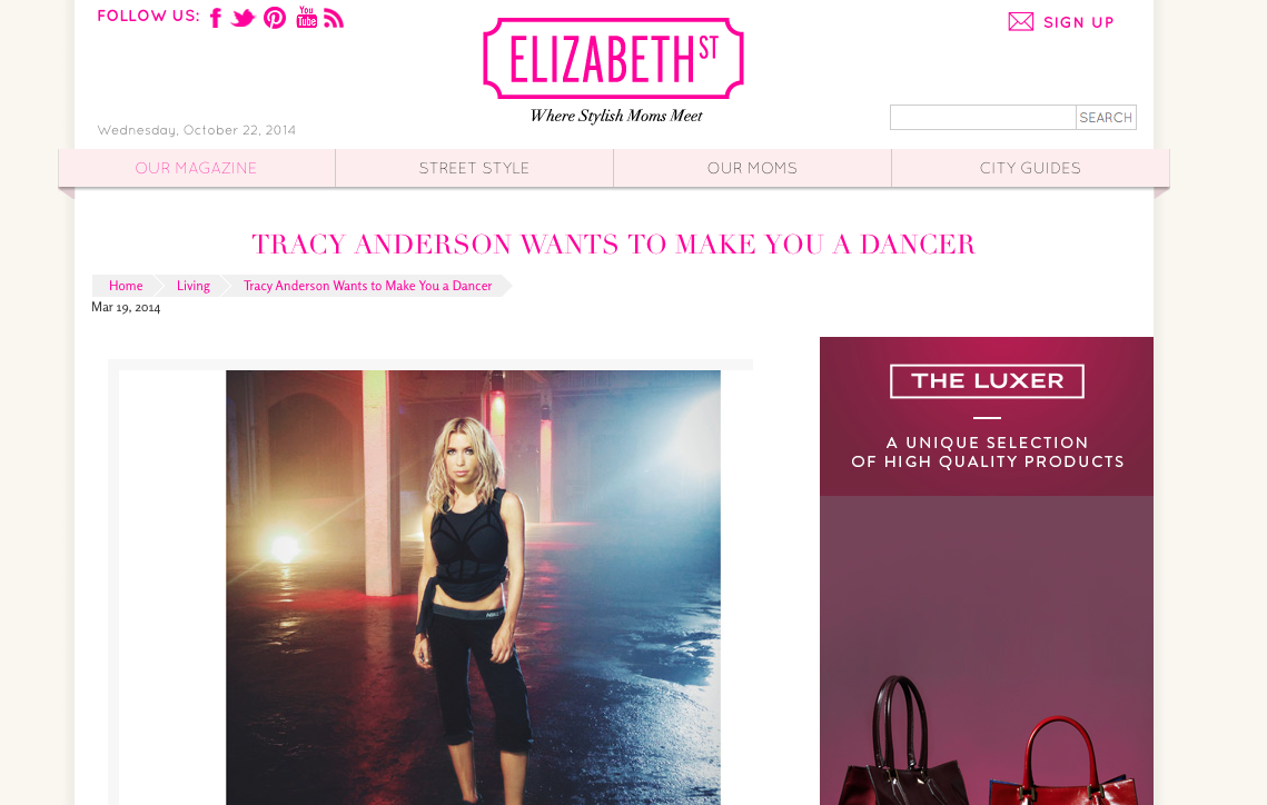 elizabeth street tracy anderson wants to make you a dancer