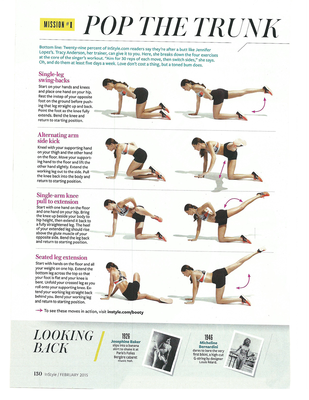Instyle Magazine Quot The Ultimate Get Your Butt In Shape