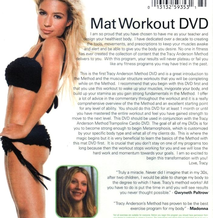 Mat Workout Tracy Anderson